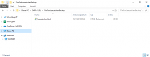 Firefox Lesezeichen Backup