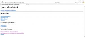 Firefox Lesezeichen HTML