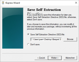 Save Self Extraction