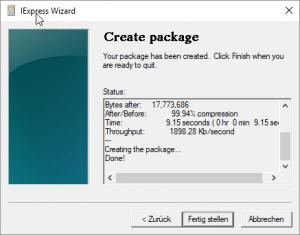 Selbstentpackende Dateiarchive erstellen