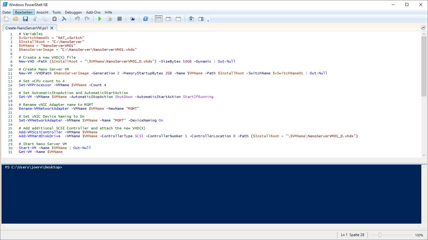 Create Nano Server VM
