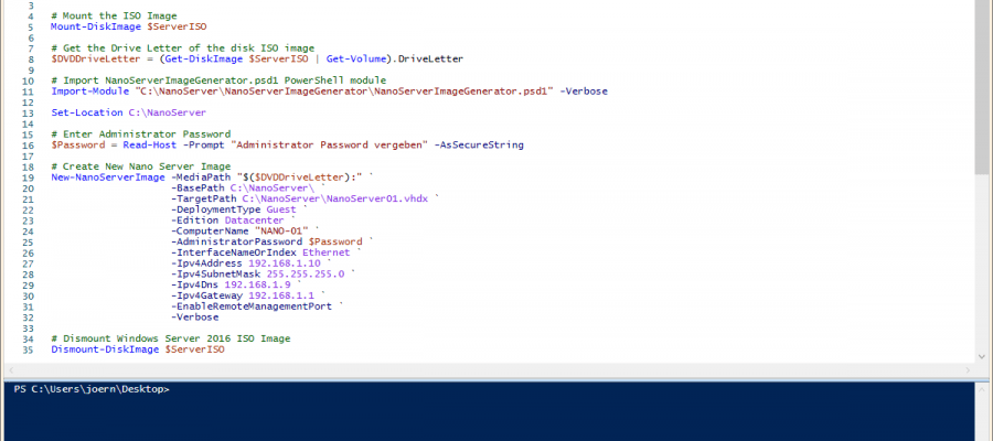 Powershell Create Nano Server Image - The Windows Pope - IT Blog