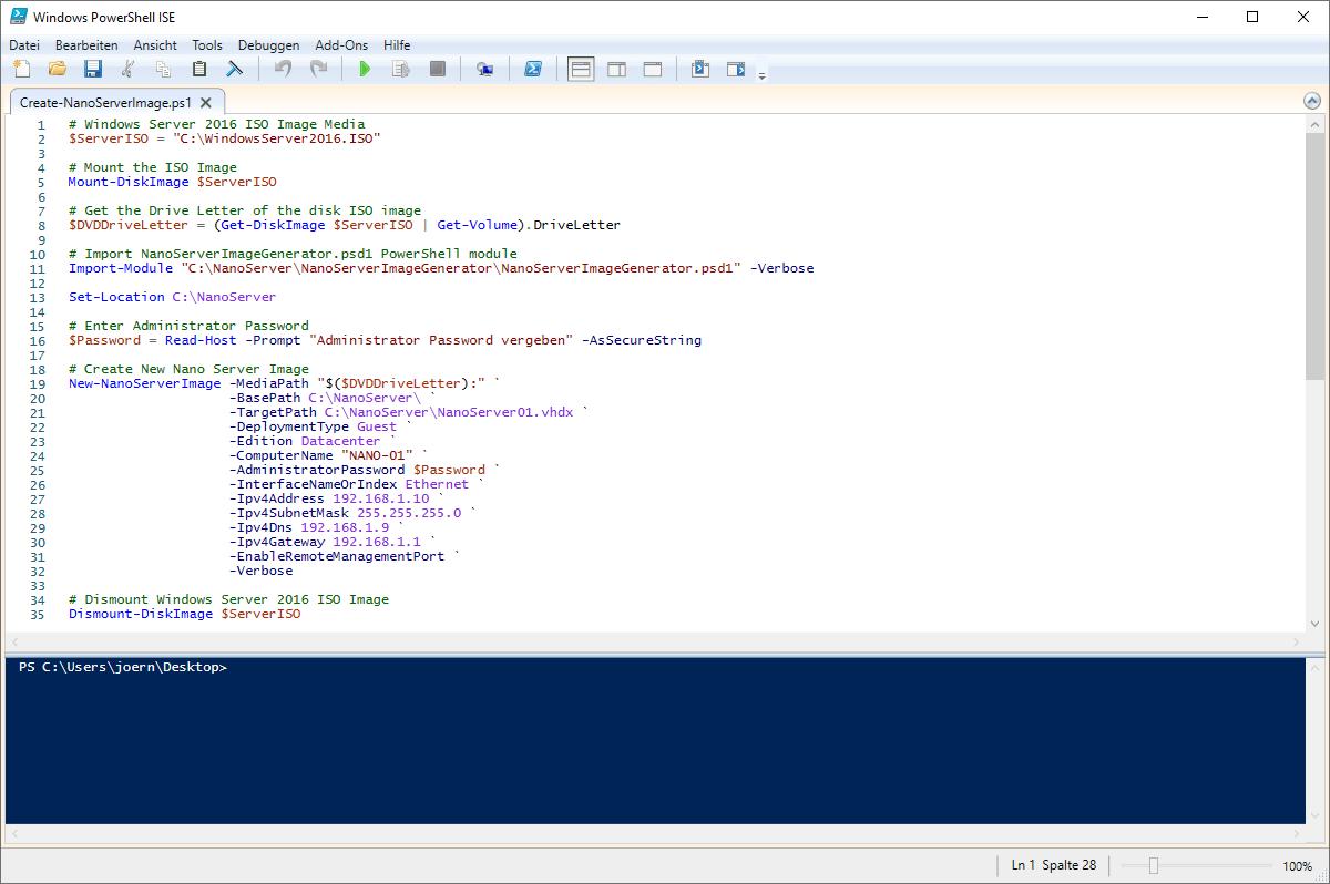 Nano Server Image erstellen