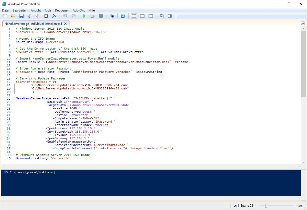 Nano Server Image individuell erstellen
