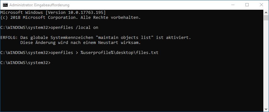 Windows OpenFiles
