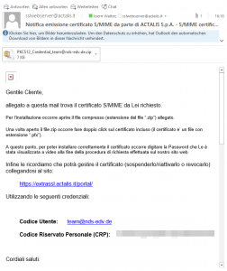 Actalis SMIME Certificate