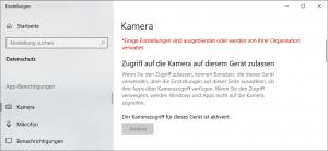 Windows 10 Kamera erlauben und aktivieren