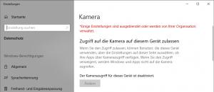 Windows 10 Kamera verbieten und abschalten
