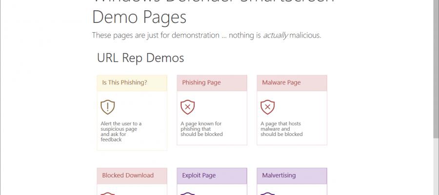 Windows Defender SmartScreen Demo
