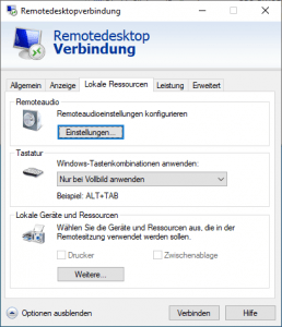 default.rdp disable ressources registry