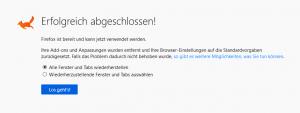 Firefox ist bereit und kann jetzt verwendet werden