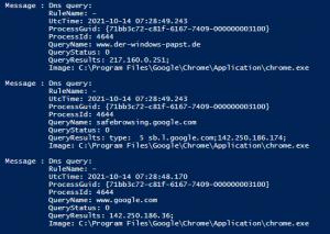Sysinternals Sysmon jetzt mit einer DNS Query Protokollierung
