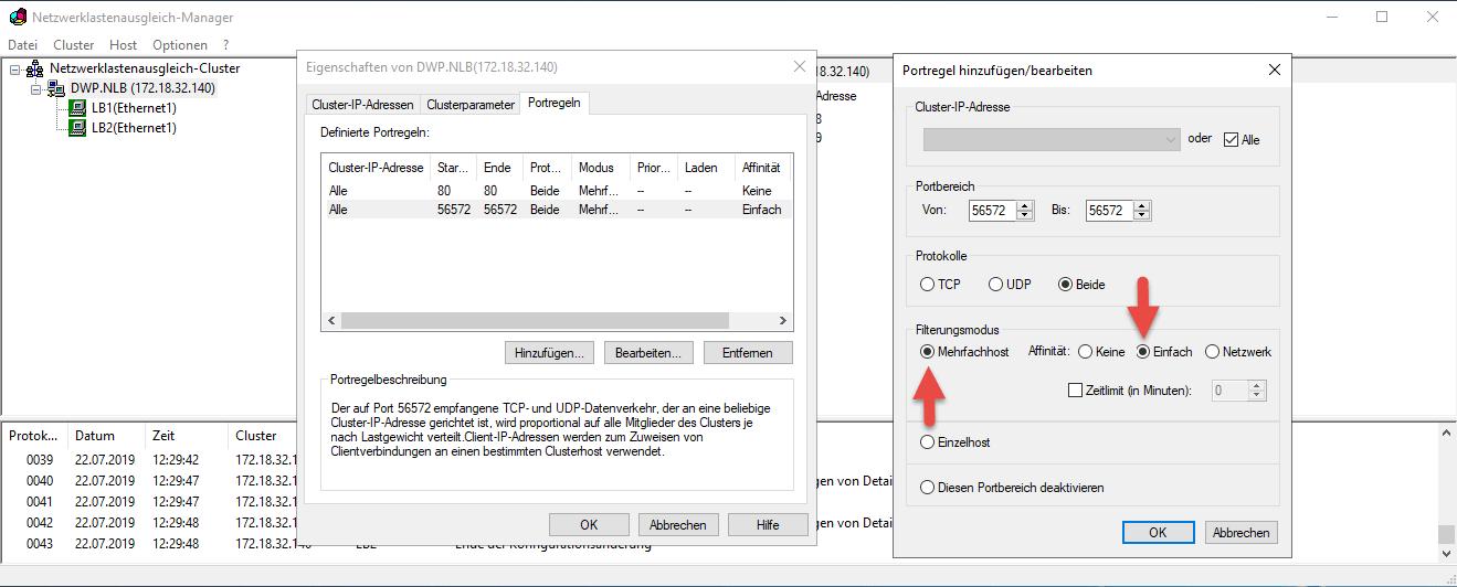 Netzwerklastenausgleich Windows Server 2019