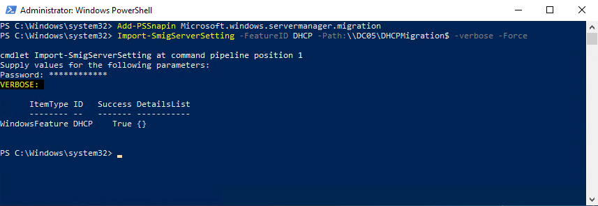 Windows Server Migration Tool Installation and Preparation