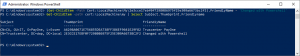 Thumbprint changed with Powershell