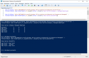 Powershell network info