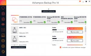 Ashampoo Festplatten analysieren
