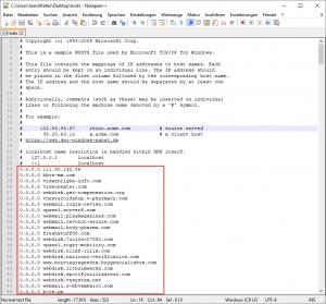 Block EmotetIPs over etc hosts
