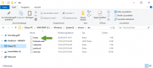 Emotet Block HOSTS Datei