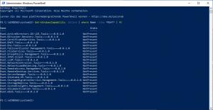 Get-WindowsCapability -Online