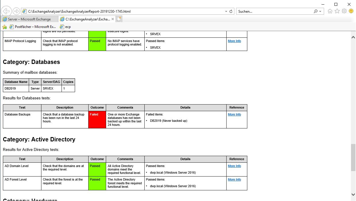 Exchange Analyzer