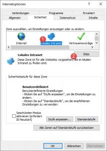 Internet Explorer Internetoption