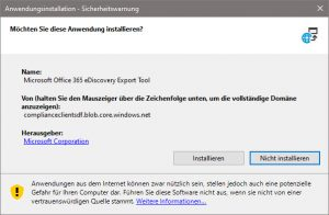 Microsoft Office 365 eDiscovery Export Tool