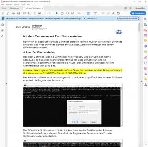 Adobe Reader Prüfung von Zertifikaten