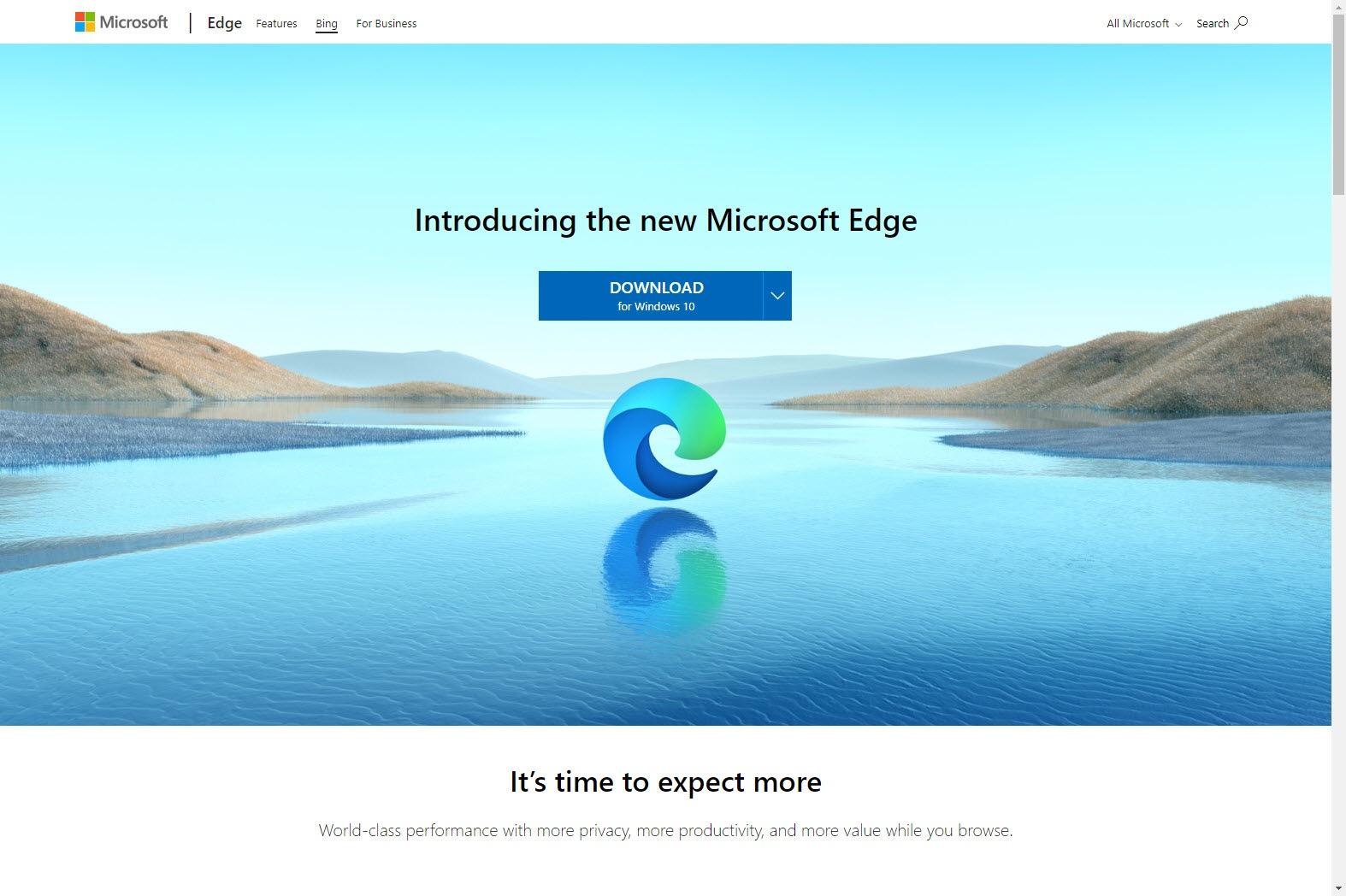 Microsoft Edge für Windows 10 steht zum Download bereit