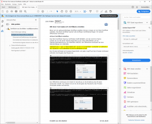 PDF Unterschrift unbekannt