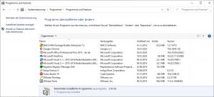 Software über die GUI deinstallieren