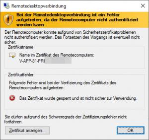 RDP NLA problem
