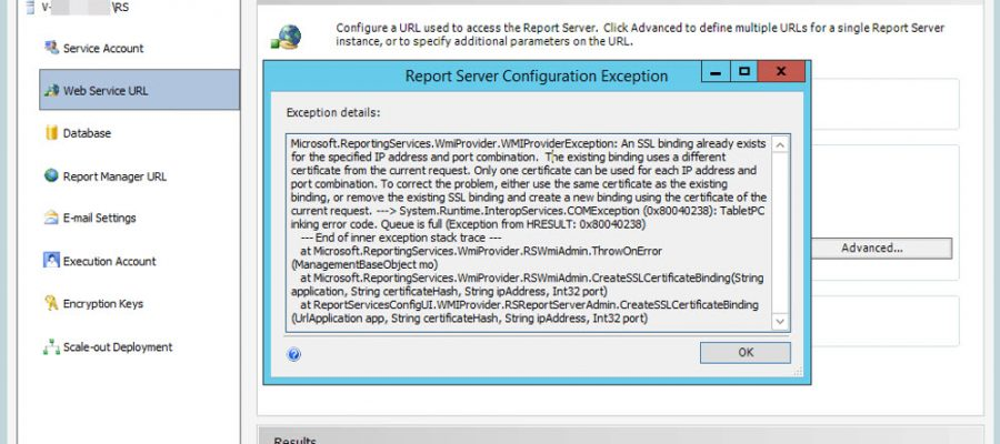 CAN NOT BINDING SSRS CERTIFICATE