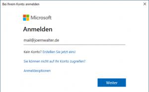 Connect-ExchangeOnline Anmeldung
