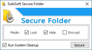 Lock and hide Windows folders