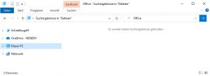 Windows delete search results