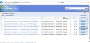 Microsoft Update Catalog Warenkorb anzeigen