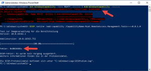 Error code 0x8024401c during feature installation