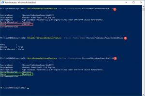 Sicherheits Tipp PowerShell 2.0 Engine deaktivieren
