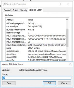Supported Encryption Type Value 24
