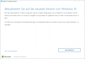 Windows 10 Update auf 2004