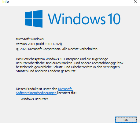Windows 10 Version 2004