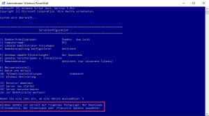 Server configuration sconfig Windows updates