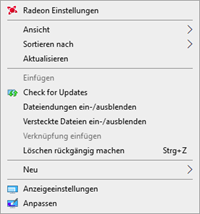 Right-click Windows Update Search