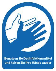Desinfektionsmittel für die Hände verwenden