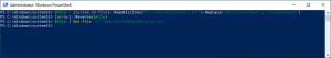 Powershell Text turning back and replace