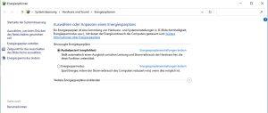 Windows Energieplan konfigurieren
