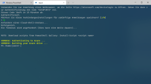 Windows Terminal Azure Console