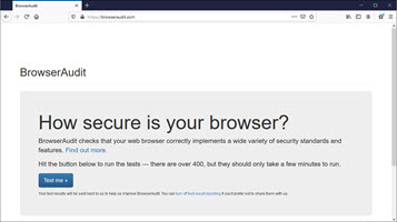 Browser Security Check BrowserAudit.com