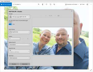 Drucken über Windows Fotos